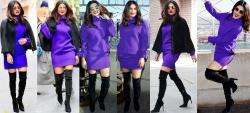 Priyanka Chopra  MiniVestido Con Botas Altas