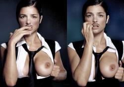Araceli González (1 CO) Posando En Topless