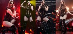 Hailee Steinfeld Video Body Con Botas Altas De Cuero En Concierto En Philadelphia